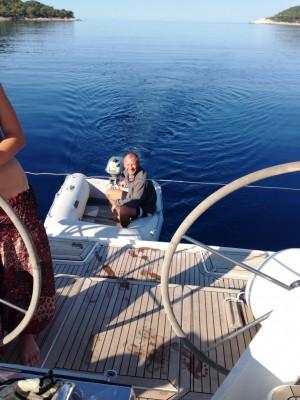 Секс на яхте посредине моря