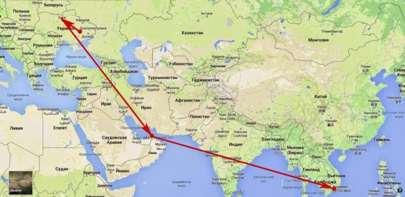 Маршрут самолета москва дубай на карте где сейчас выгодно купить квартиру за границей