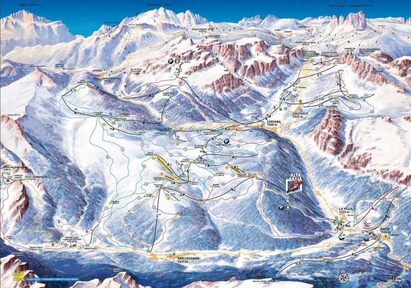 Альта Бадия (Alta Badia) горнолыжные курорты в Италии в районе Селла Ронда