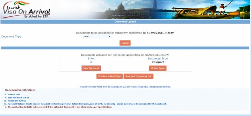 Индийская виза по прибытию по прилету в Индию