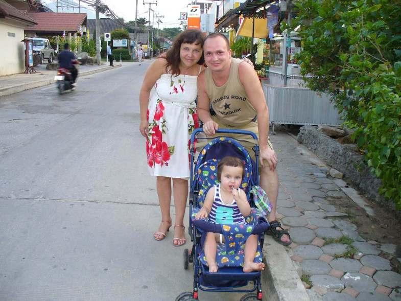 На Самуи, на месяц, и конечно же с ребёнком