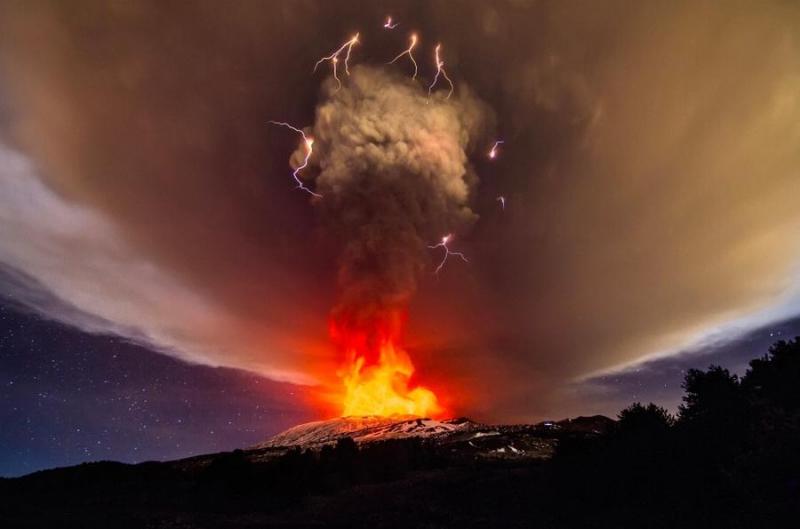Посещение вулкана Этна