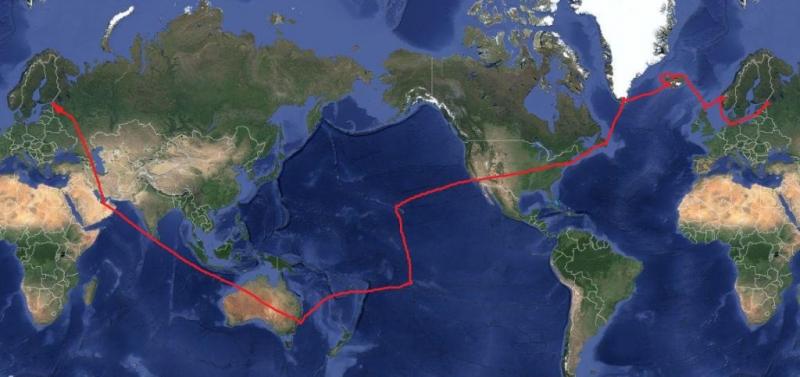 Кругосветка = трансатлантический + тихоокеанский круизы, осень 2016