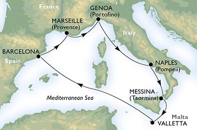 Новый круизный лайнер MSC Meraviglia