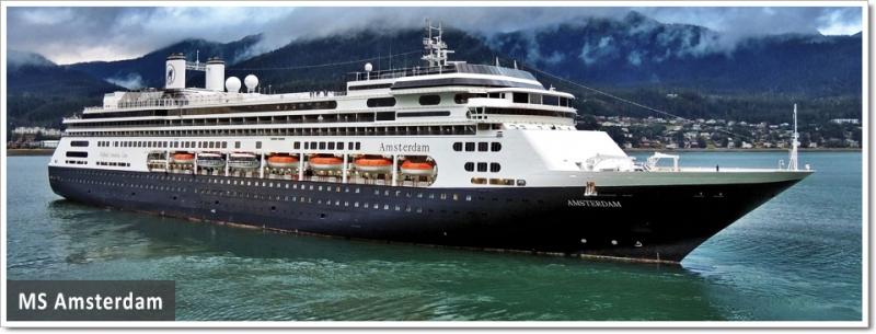 Круизный лайнер Amsterdam круизная компания Holland America Line