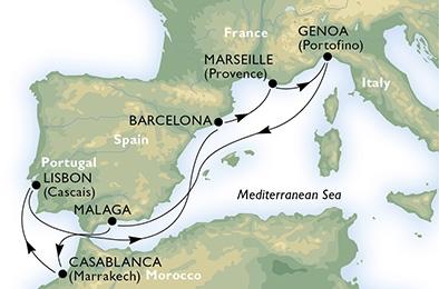 Круиз с 20.09.2017 на MSC Magnifica по Западному Средиземноморью