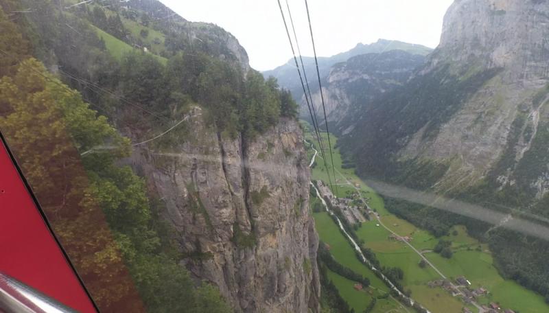 Via ferrata Murren. (Klettersteig Murren)