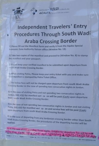 Требования на границе Израиль - Иордания