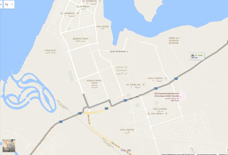 Дорога Al Ettehad Street - Umm Al Quwain - Объединенные Арабские Эмираты