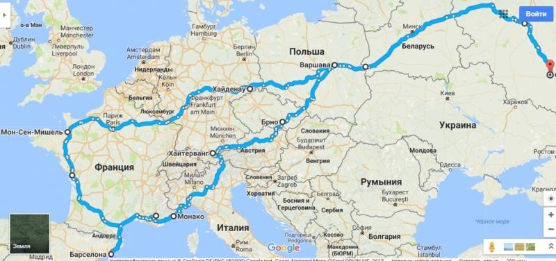 Из Воронежа до Атлантики и обратно за 16 дней. Заезд на 10 000 км в июне 2016 года.