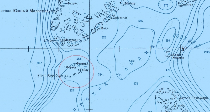 Атолл Goidhu (Гойду) и его острова Fulhadhoo (Фулхадху, Фуладу) и Goidhoo (Гойдху)