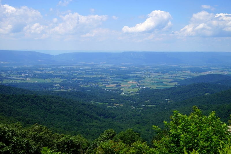 Shenandoah -> Blue Ridge Parkway -> Great Smoky Mountains