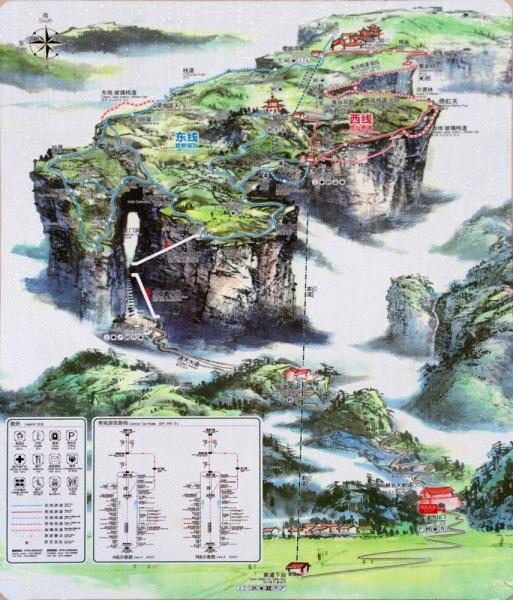 Треки и точки достопримечательностей Китая.