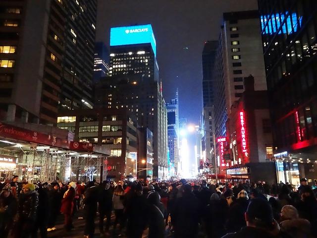 Нью-Йорк, встреча НГ, празднование Рождества