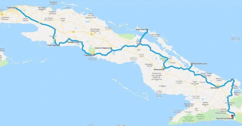 Куба (февраль 2018): Гавана-Сантьяго на машине, практические заметки