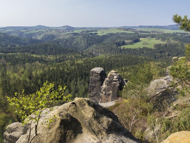 Саксонская Швейцария. Бастай и феррата Häntzschelstiege. Апрель 2018