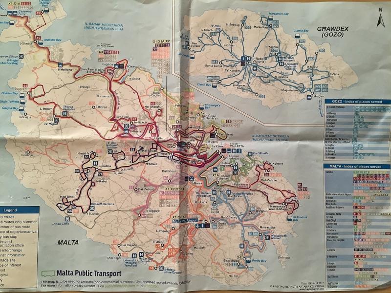 Мальта на общественном транспорте.