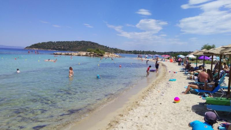 Греция: Ситония, Тасос, Кассандра с детьми, июнь 2018