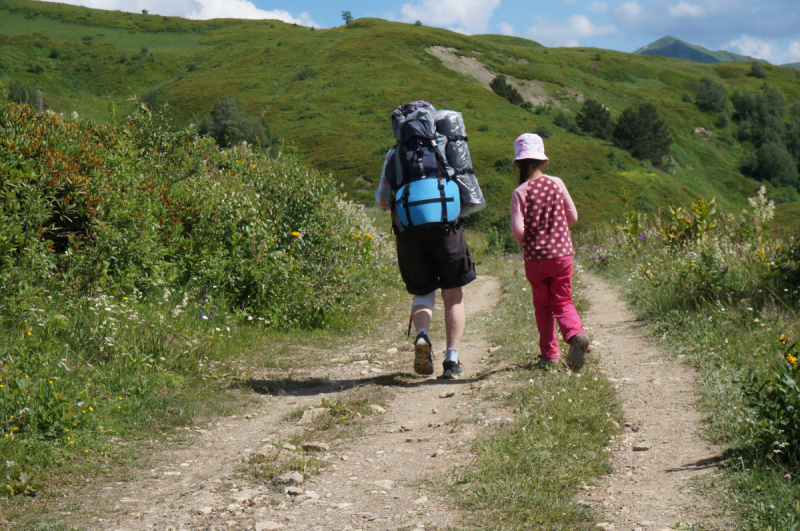 По Сванетии пешком: мама, дочка и я. Трекинг, июль 2018 г.
