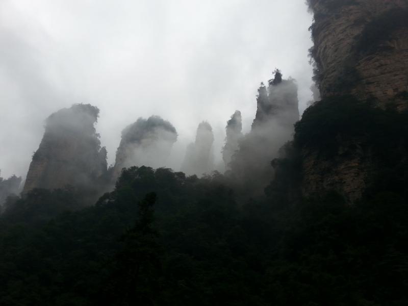 Китай: вид сверху. Крыши Шанхая и горы Аватар