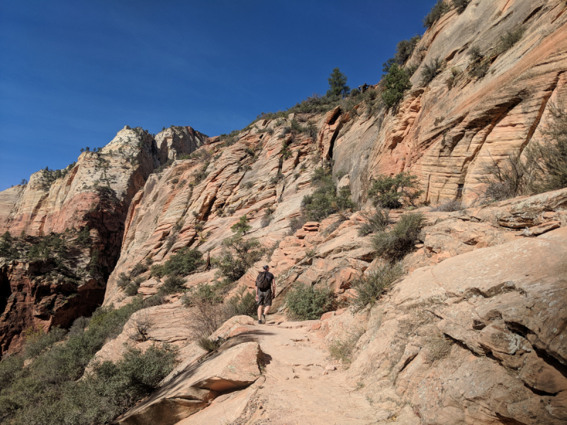 Zion в ноябре. Observation Point trail.