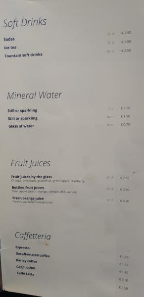 Как с питанием и выпиванием в круизах MSC