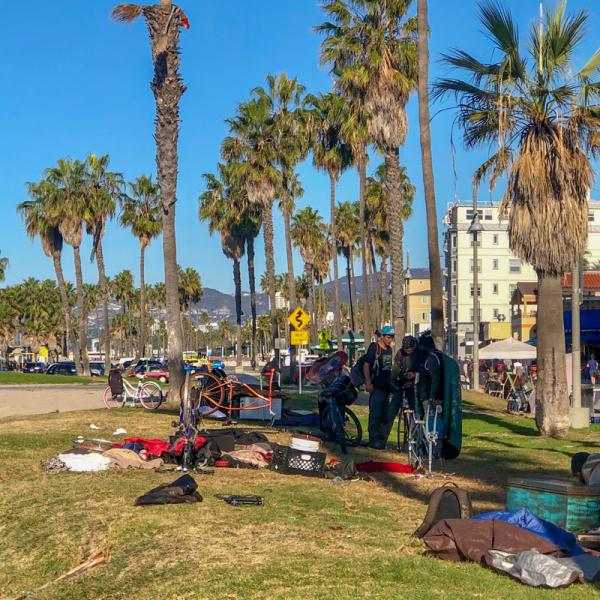 Venice Santa Monica Лос-Анжелес в декабре