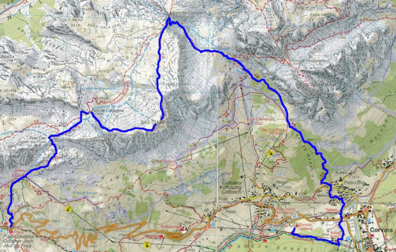 Доломиты. Пешком по Alta Badia и Val di Fassa (без машины)