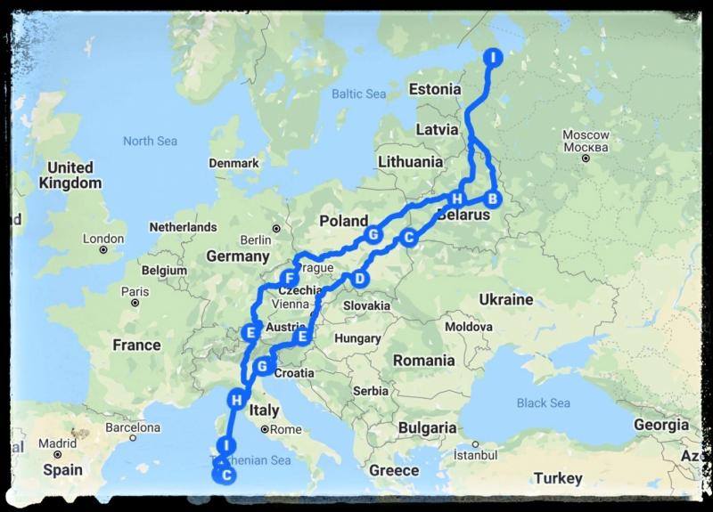 Из Санкт-Петербурга на Сардинию на своей машине