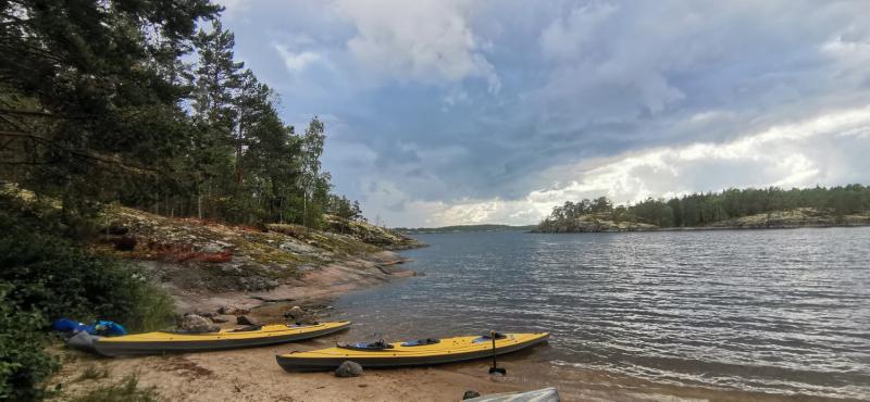 Суровая красота Ладожского озера. Август 2021. 60 000 взмахов веслом.