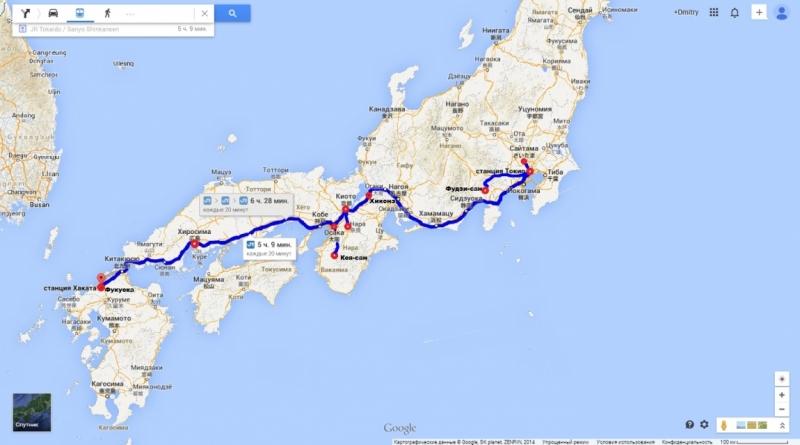 туристический маршрут в японии