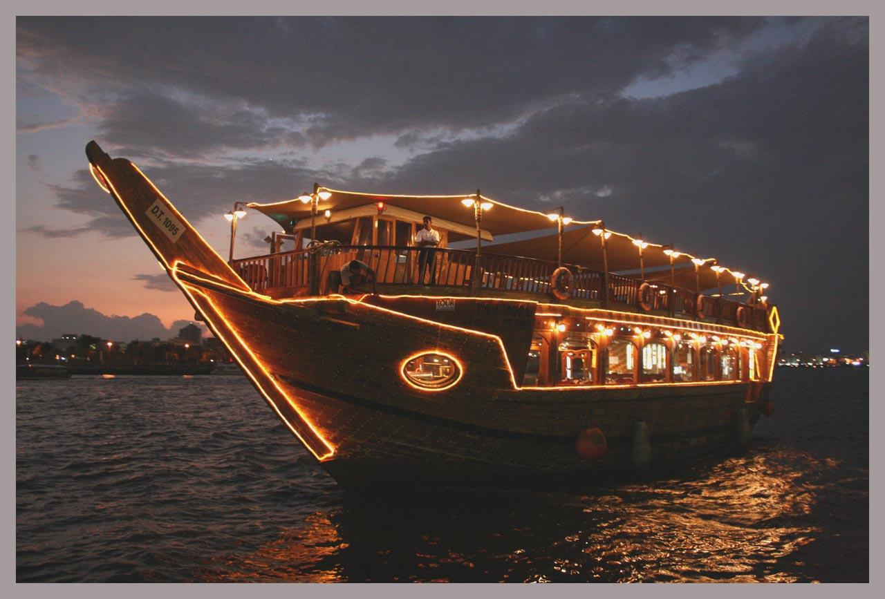 ночные прогулки на лодке