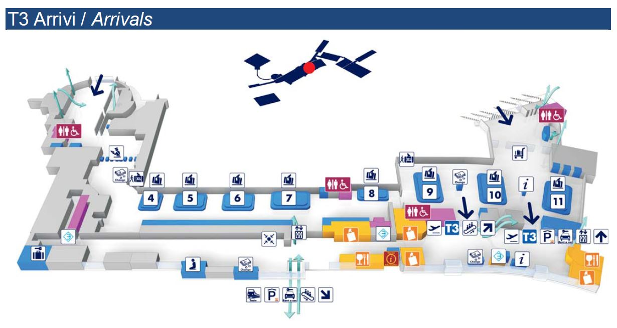 схема аэропорта леонардо да винчи (фьюмичино)