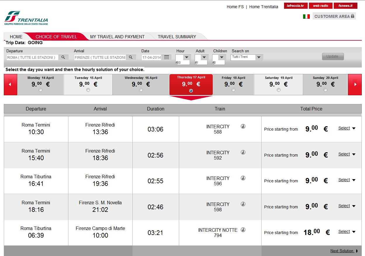 повседневной билеты трениталия рим-венеция за 9 евро термобелья