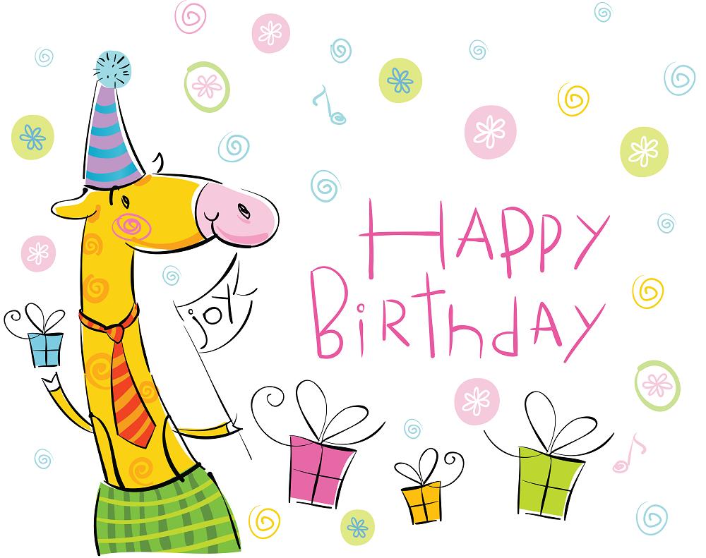 Рисованные картинки ко дню рождения подруги