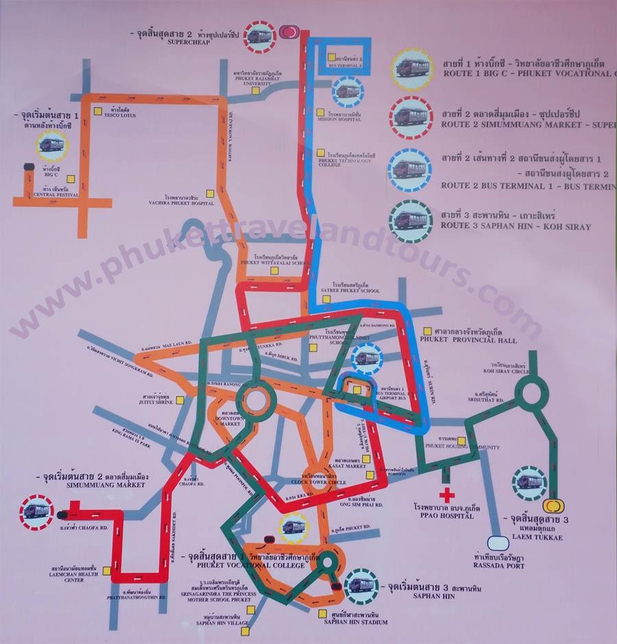 Схема автобусов пхукета