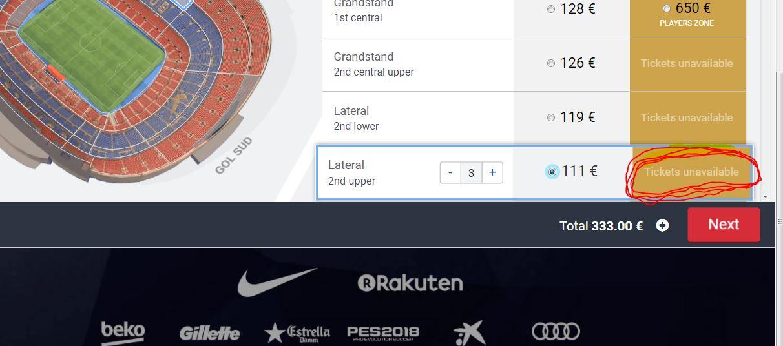 На каком испанском сайте купить билет на футбол