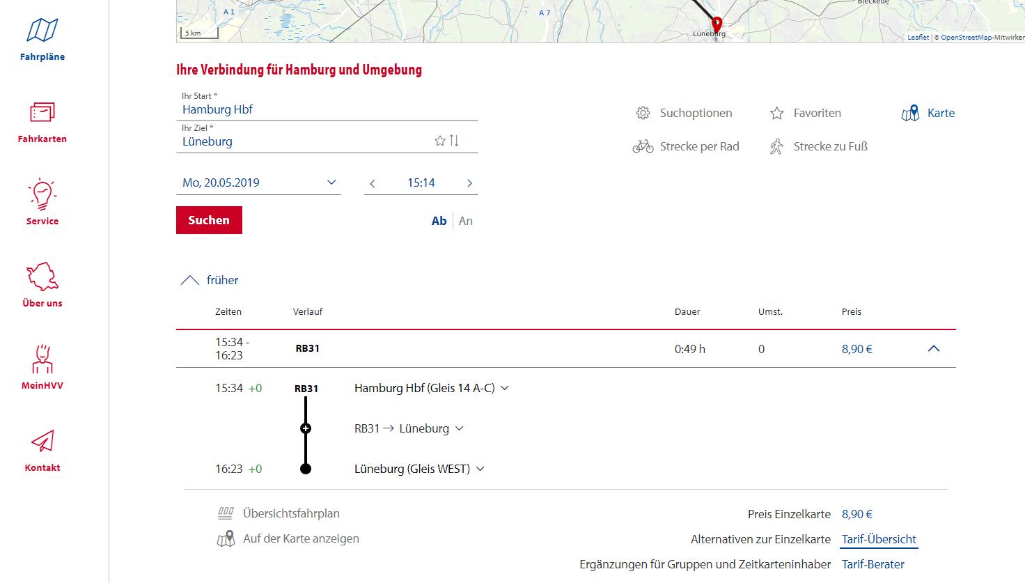 Hvv Karte Abcde.Obshestvennyj Transport V Gamburge Karta Marshrutov