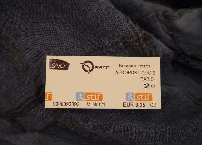билет RER на одну поездку