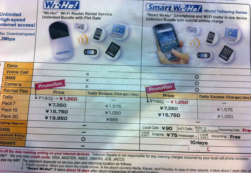 Мобильный интернет в Японии