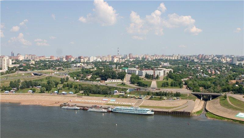 Набережная реки Белая Уфа (Республика Башкортостан) Фото Планета.