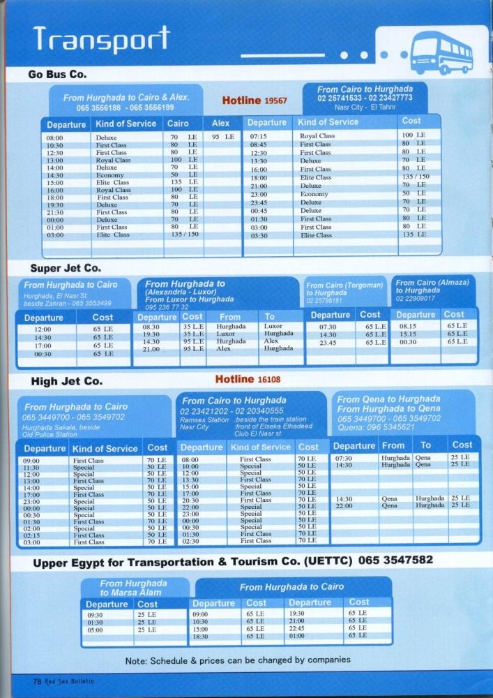 Расписание и стоимость передвижения на автобусах в Египте. Делимся информацией.