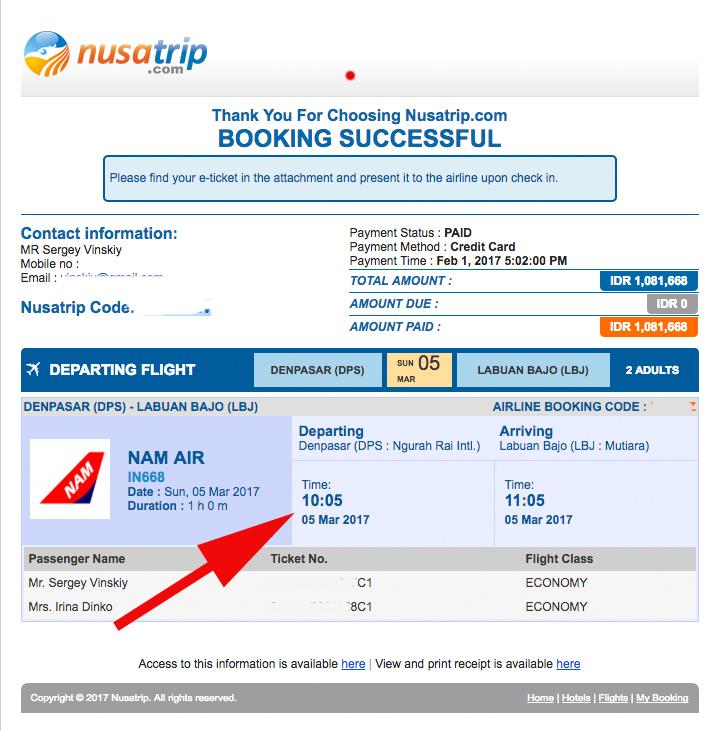 Авиакомпания Nam Air отзывы