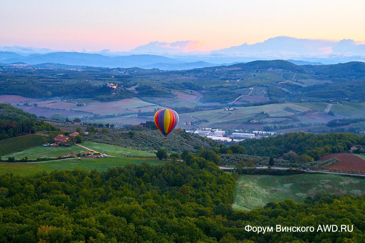 Тоскана на воздушном шаре - крутой подарок на День Рождения