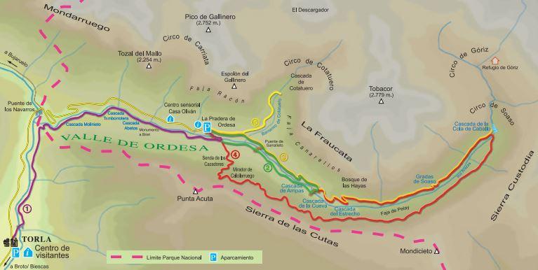 Достопримечательности Арагона: (провинция Уэска - национальный парк Ордеса и Монте-Пердидо)