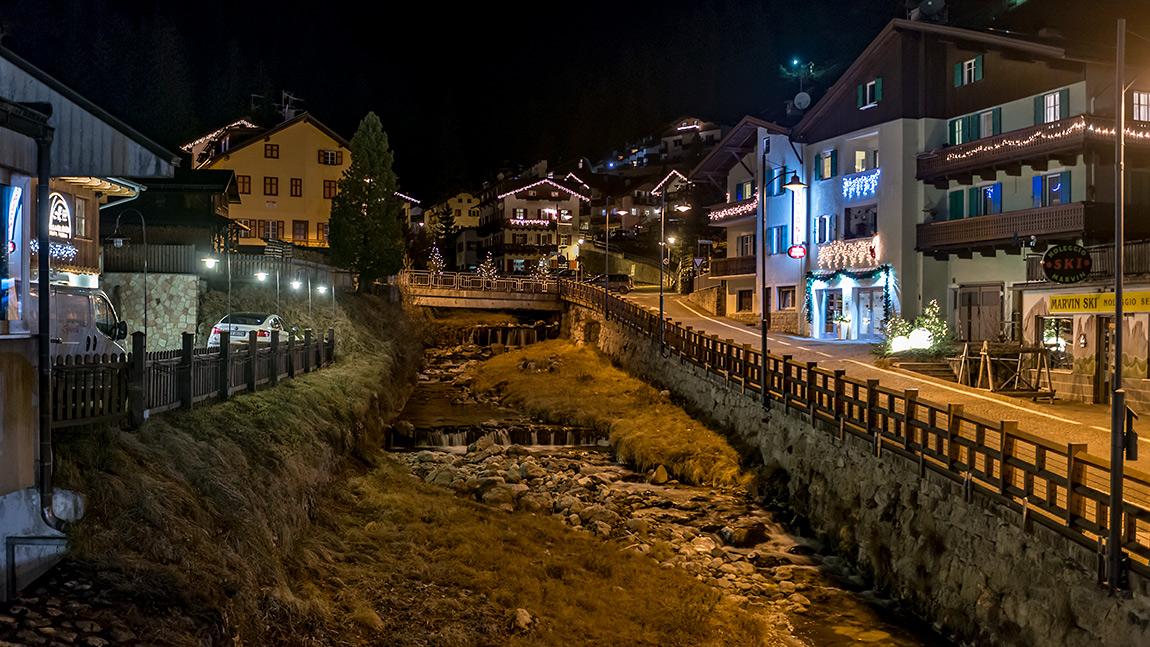 Campitello di Fassa. Впервые в Альпах.