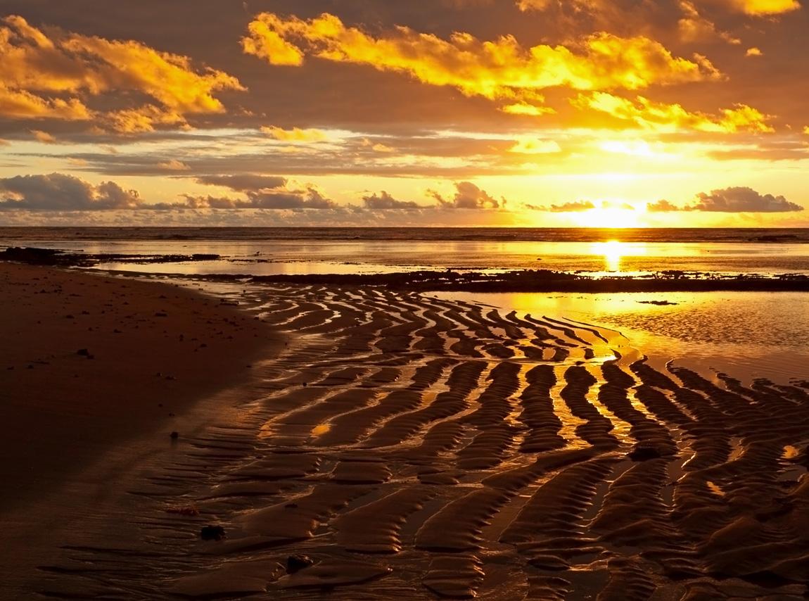 картинка заката с песком ним пока