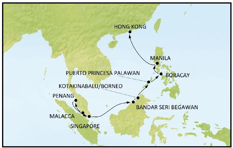 Круиз по Юго-Восточной Азии