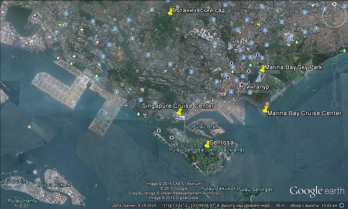 Круизные порты и терминалы в Сингапуре
