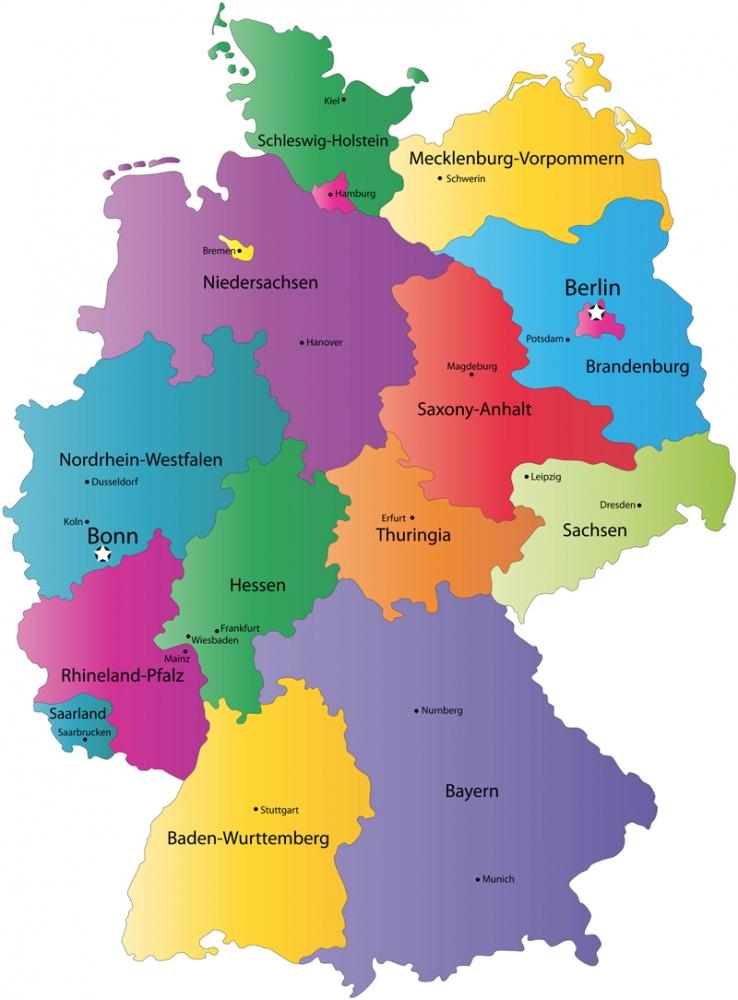 Карта регионов Германии